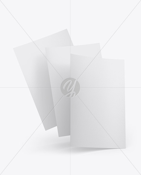 Three Textured A4 Papers Mockup