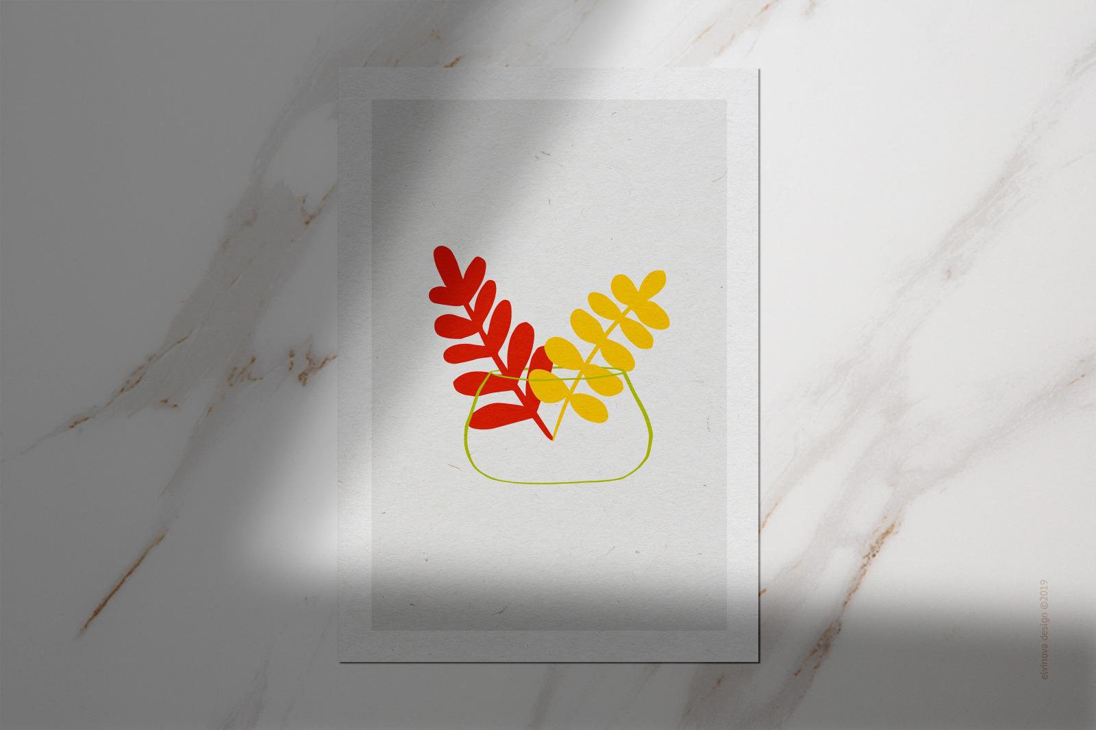 Aloha! Abstract Fruits & Leaves