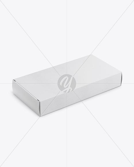 Paper Pills Box Mockup - Halfside View (high-angle shot)