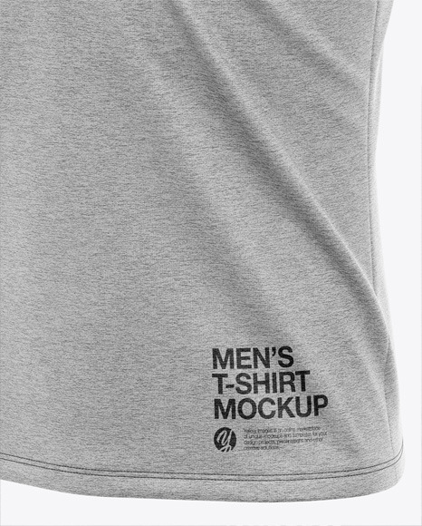 Men's Heather Pocket T-Shirt - Front Half-Side View