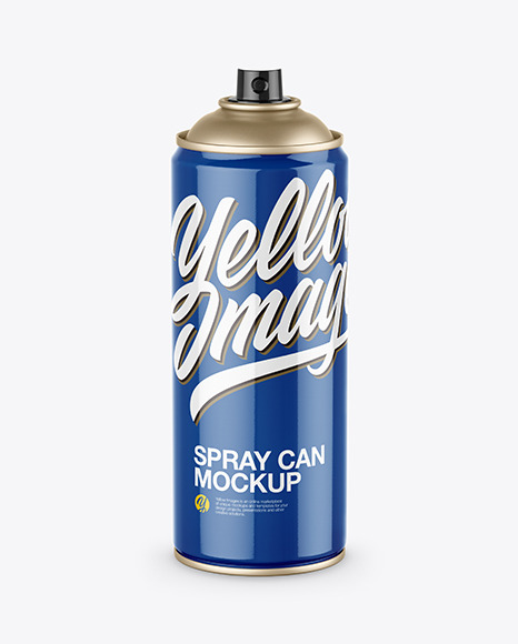 Download Opened Glossy Spray Can PSD Mockup