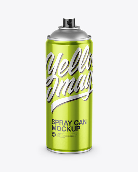 Download Metallic Spray Can PSD Mockup