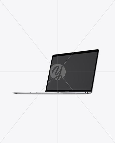 Silver MacBook Pro Mockup