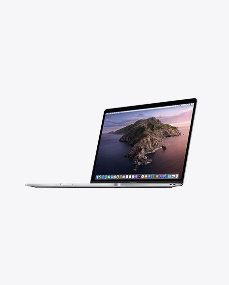 Download Silver MacBook Pro PSD Mockup