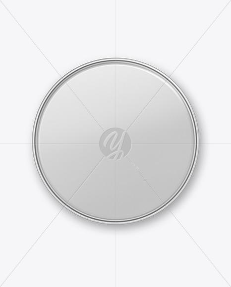 Metal Round Tin Can Mockup