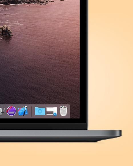 Space Gray MacBook Pro Mockup