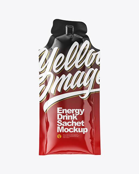 Download Energy Drink Glossy Sachet PSD Mockup