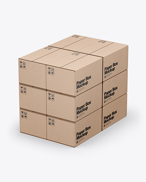 Download Kraft Boxes PSD Mockup