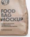 Kraft Paper Food Bag Mockup - Front View