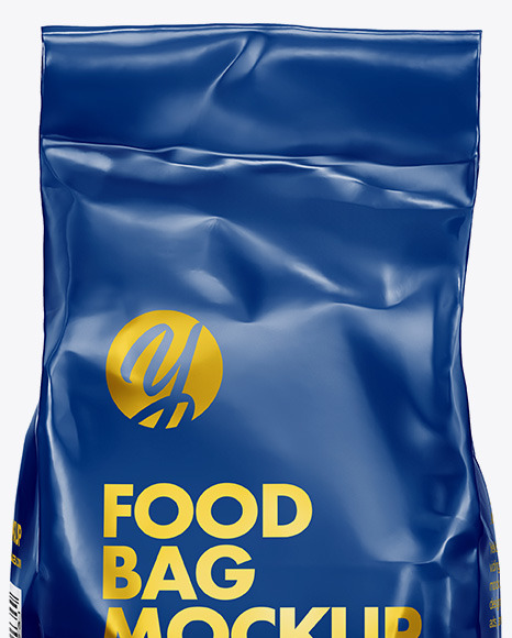 Glossy Food Bag Mockup - Front View