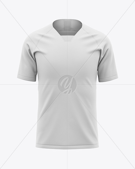Men's Soccer Raglan Jersey Mockup - Front View - Football Jersey T-shirt
