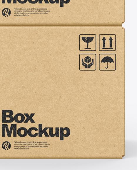 Kraft Boxes Mockup
