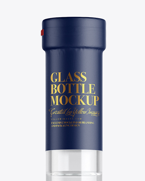 Clear Glass Grappa Bottle Mockup
