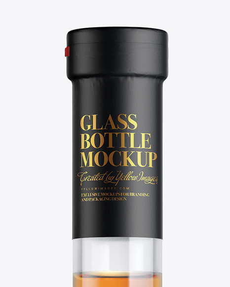Clear Glass Cognac Bottle Mockup
