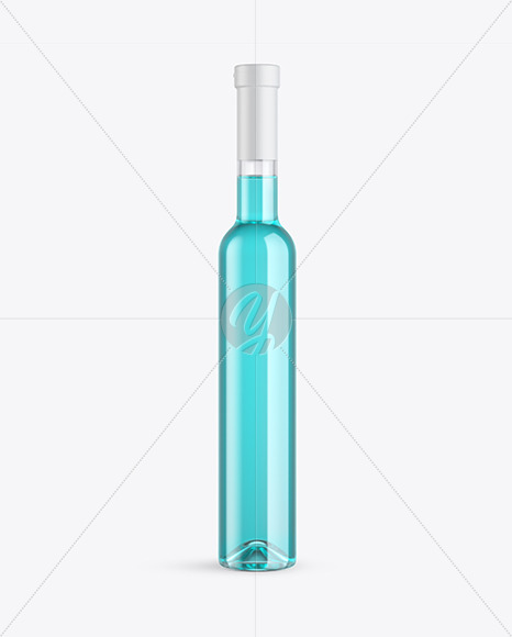 Clear Glass Liquor Bottle Mockup