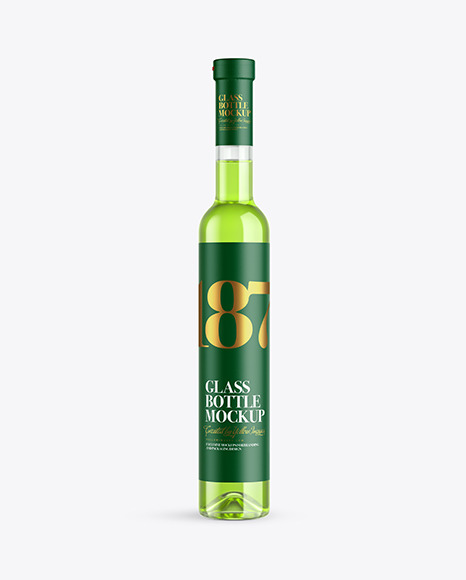 Download Clear Glass Liquor Bottle PSD Mockup