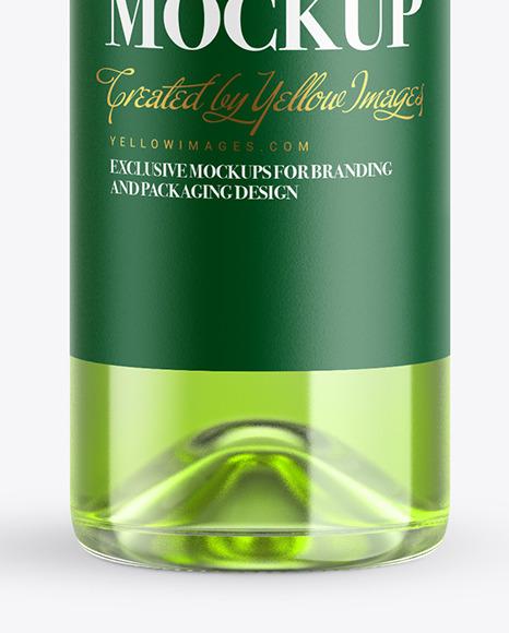 Clear Glass Liquor Bottle Mockup
