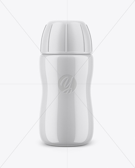 Yogurt Bottle Mockup with Shrink Sleeve