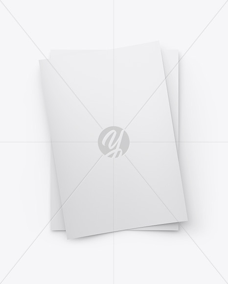 Two A4 Papers Mockup