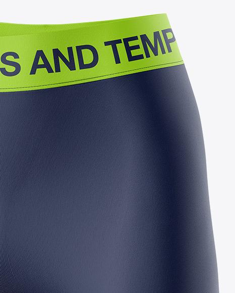 Women's Leggings Shorts - Front Half Side View