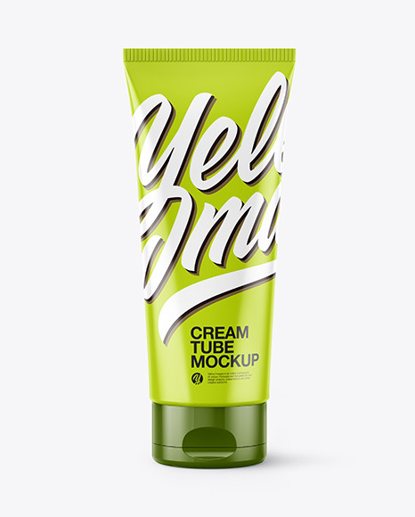 Download Glossy Plastic Cosmetic Tube PSD Mockup
