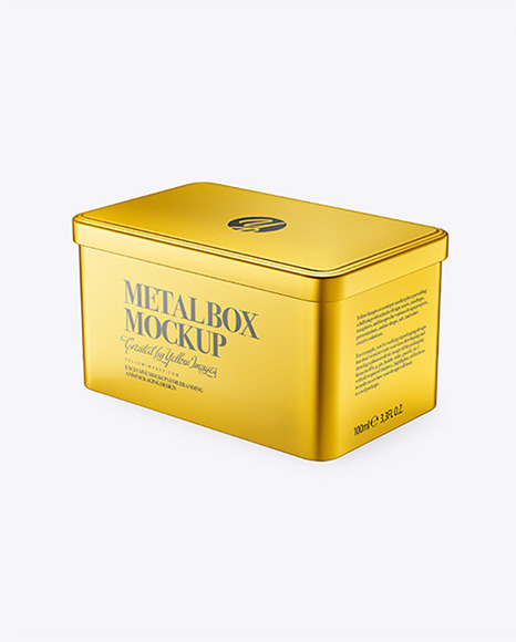 Metallic Box Mockup
