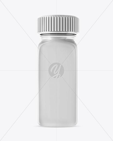 Glossy Plastic Jar Mockup