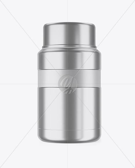 Metallic Thermos Mockup