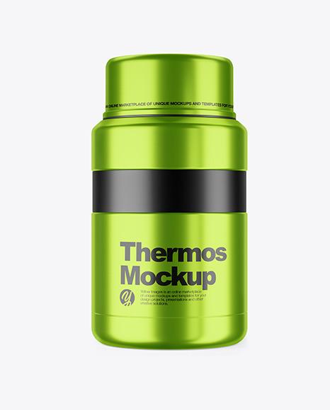 Download Metallic Thermos PSD Mockup