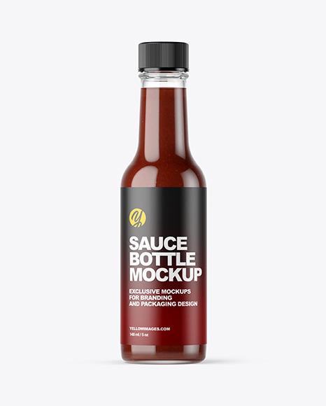 Download BBQ Sauce Bottle PSD Mockup