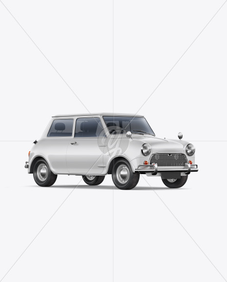 Retro Сoupe Car - Half Side View