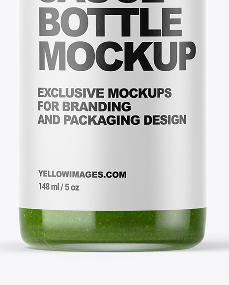 Green Hot Sauce Bottle Mockup