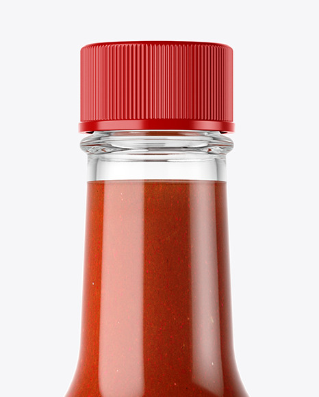 Red Hot Sauce Bottle Mockup