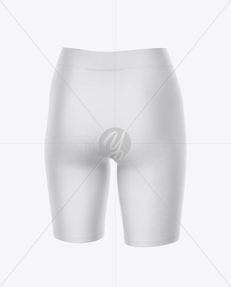 Women's Leggings Shorts - Back Half Side View