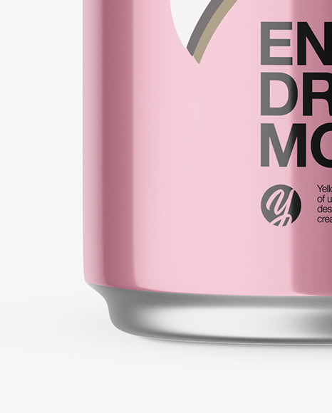 Metallic Drink Can Mockup