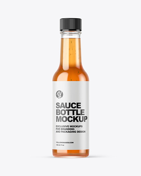 Sweet Chili Sauce Bottle Mockup