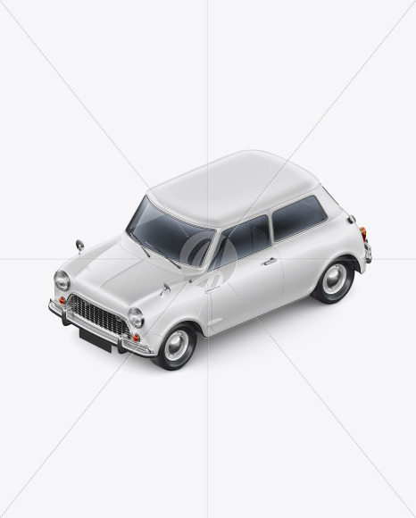 Retro Сoupe Car - Hald Side View (High-Angle Shot)