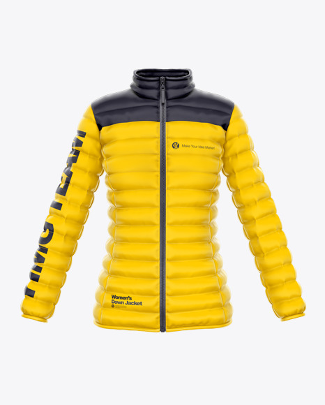 Women's Down Jacket Mockup - Front View