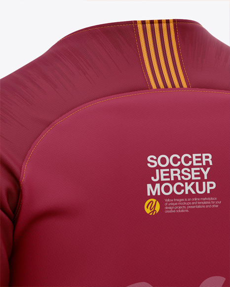 Men's Soccer Raglan Jersey Mockup - Back Half-Side View