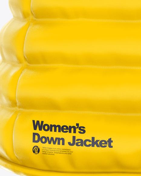 Women's Down Jacket Mockup - Back View