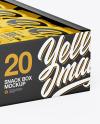 Display Box w/ 20 Snack Bars Mockup