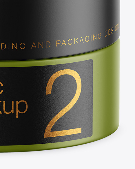 Matte Cosmetic Jar Mockup