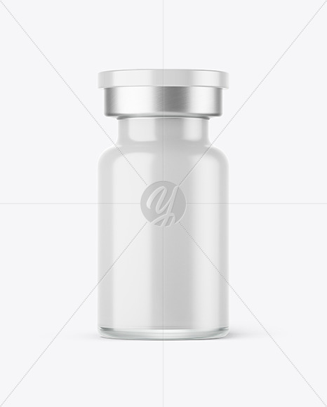 Glass Cosmetic Bottle With Pump Mockup