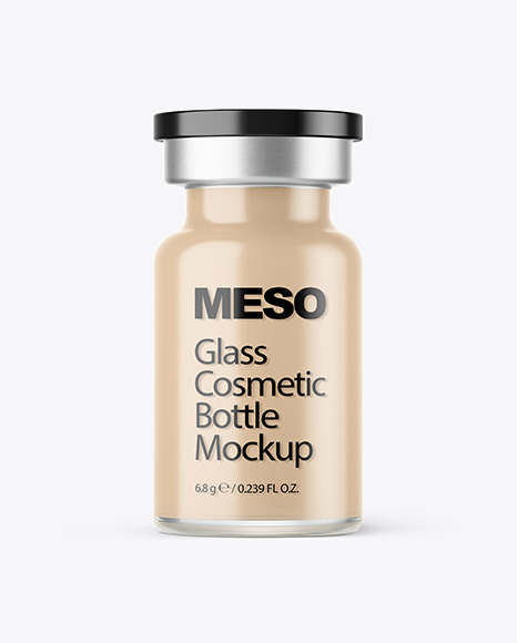 Download Glass Cosmetic Bottle PSD Mockup