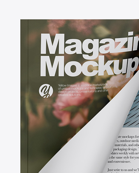 Download Opened Matte Magazine Mockup In Stationery Mockups On Yellow Images Object Mockups PSD Mockup Templates