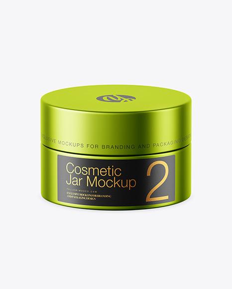 Download Matte Metallic Cosmetic Jar PSD Mockup