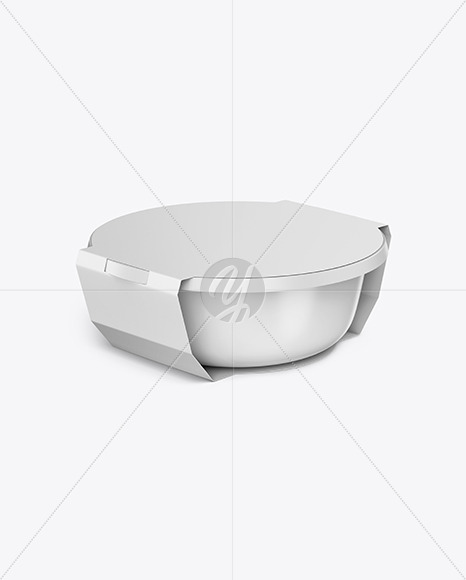 Download Food Container Mockup In Pot Tub Mockups On Yellow Images Object Mockups PSD Mockup Templates