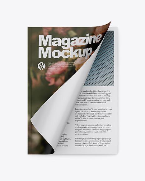 Download Opened Glossy Magazine PSD Mockup