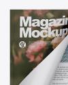 Opened Glossy Magazine Mockup