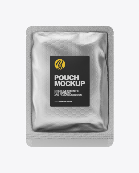 Download Metallic Pouch PSD Mockup